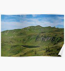 Mountain lake and Alps near Portlahorn, Austria Poster