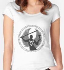 Raziel & The Mortal Instruments (Das Siegel des Schattenjägers) | Dunkel Tailliertes Rundhals-Shirt