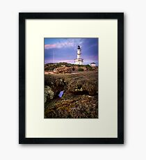 The Ocean's view of Point Lonsdale Lighthouse Framed Print