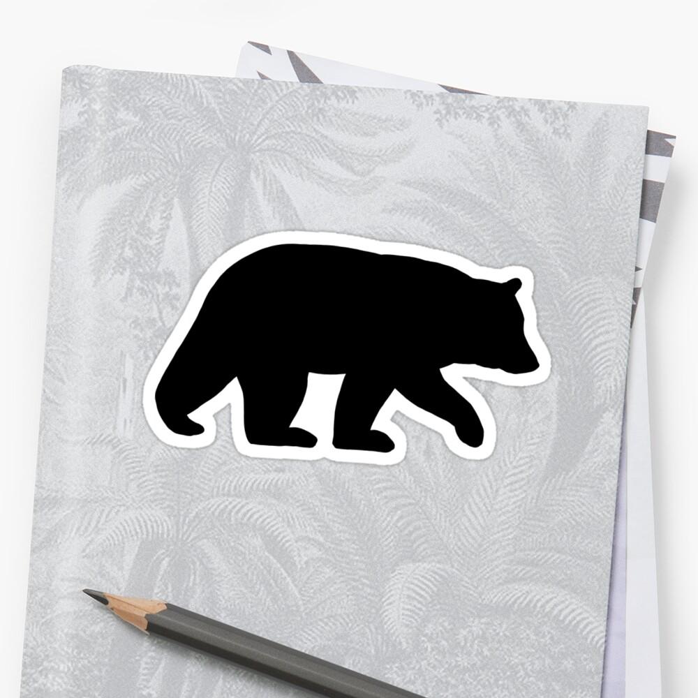 Schwarzbär Silhouette Sticker