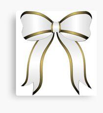 White Christmas Bow Canvas Print