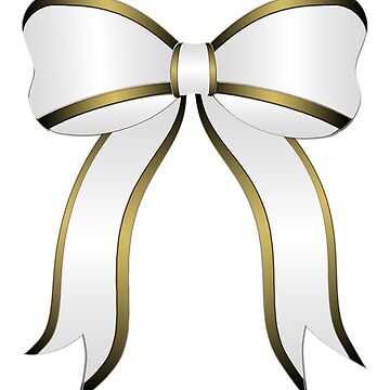 White Christmas Bow by LittleCsDesigns
