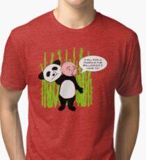 I will kick a Panda in the Bollocks - Karl Pilkington T Shirt Tri-blend T-Shirt