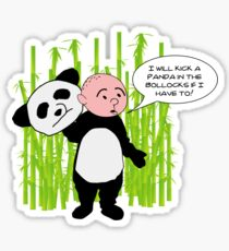 I will kick a Panda in the Bollocks - Karl Pilkington T Shirt Sticker
