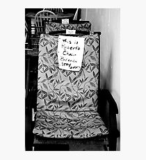 Robert's Chair Photographic Print