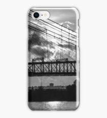 Cincinnati Suspension Bridge Black and White iPhone Case/Skin