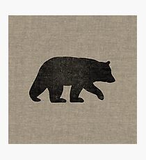 Black Bear Silhouette Photographic Print