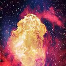 Big Fire inside the blue space by mikath