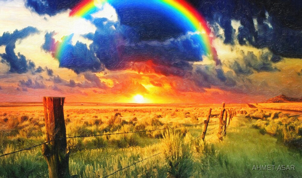 fence and the rainbow by MotionAge Media