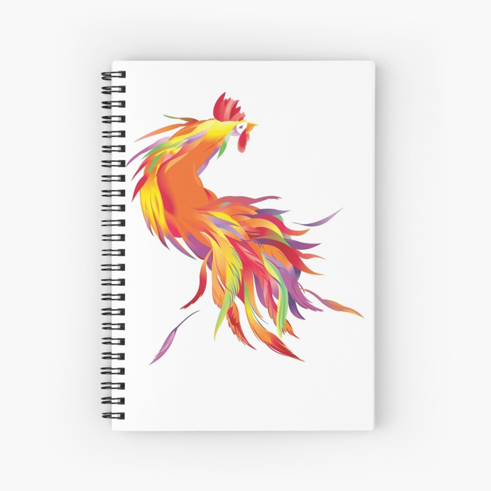Red Cock Spiral Notebook