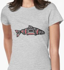 Totem Salmon Women's Fitted T-Shirt
