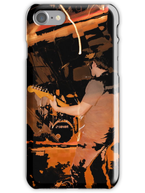Indigo Yellow iPhone Cover - Fire by mps2000