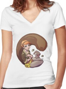 Unbeatable Squirrel Girl Women's Fitted V-Neck T-Shirt