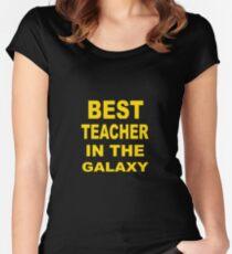 Best Teacher in the Galaxy Women's Fitted Scoop T-Shirt