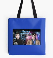 Banner for The Never Gets Old Podcast Tote Bag