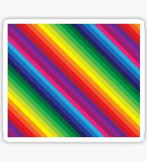 RAINBOW STRIPE bright bold colourful Sticker