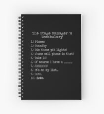 Stage Manager Vocabulary Spiral Notebook