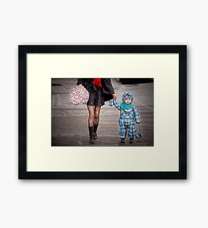 Mittens Attached Framed Print