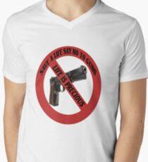 ☮ SAVE A LIFE SAY NO TO GUNS TEE SHIRT☮  Mens V-Neck T-Shirt
