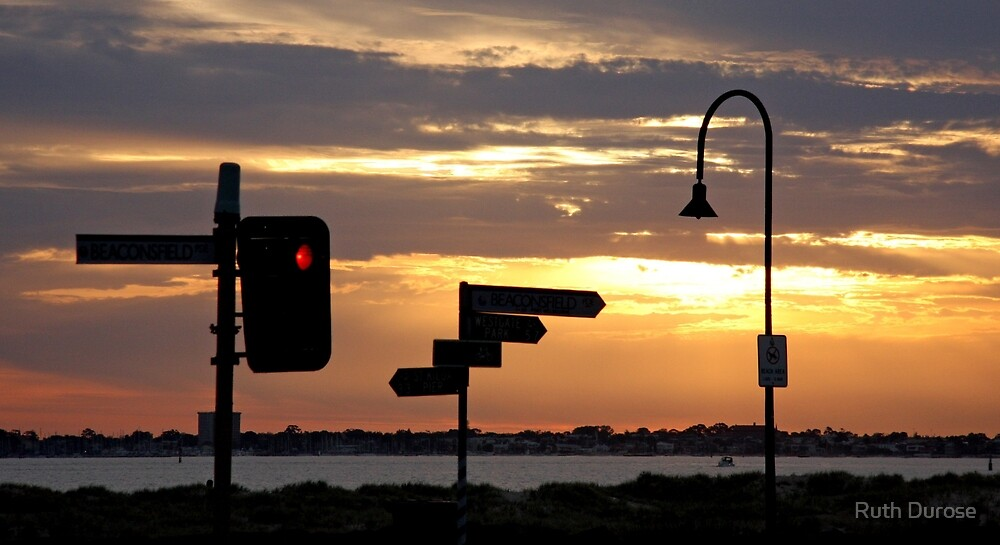 Sunset, Port Melbourne by Ruth Durose