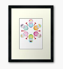 Russian Dolls - Mandala Framed Print