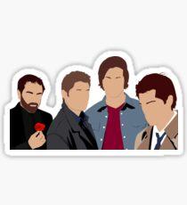 Supernatural - Sam, Dean, Castiel and Crowley Sticker
