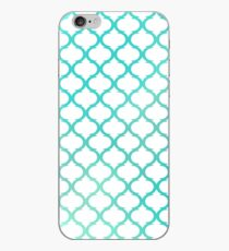 Green Moroccan luxury antique pattern iPhone Case