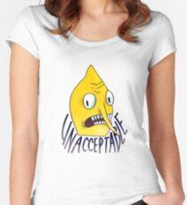 "Lemongrab ""Unacceptable"" || ScarlettDesigns Women's Fitted Scoop T-Shirt"