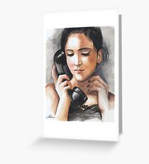 I miss your voice Greeting Card