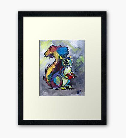 Caffeinated Squirrel Framed Print
