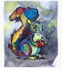 Caffeinated Squirrel Poster