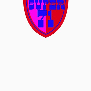 Super 71 - Shield - Red by timtopping