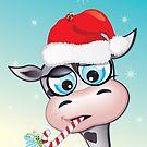 Critterz - cow Christmas spirit by Kat Massard