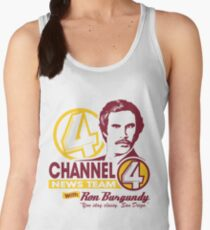 Channel 4 News Team with Ron Burgundy! No Halftone! Women's Tank Top