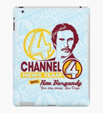 Channel 4 News Team with Ron Burgundy ipad iPad Case/Skin