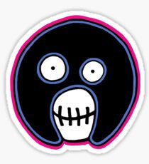 The Mighty Boosh –  Blue & Pink Mask Sticker