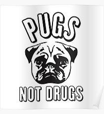 Pug not Drugs Poster