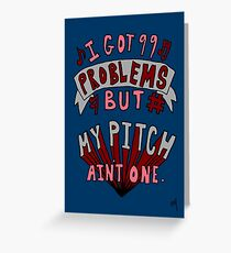 Perfect Pitch Greeting Card