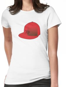 """""""30¢"""" Red Cap Womens Fitted T-Shirt"""