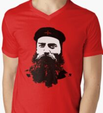 Ned Kelly Meets Che - any colour shirt Mens V-Neck T-Shirt