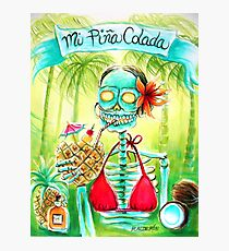 Day of the Dead Mi Piña Colada Photographic Print