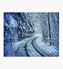 Winter's Road Photographic Print