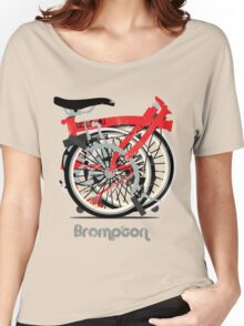 Brompton Bicycle Folded Women's Relaxed Fit T-Shirt