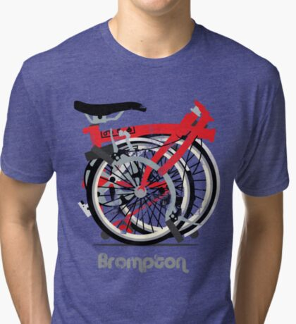 Brompton Bicycle Folded Tri-blend T-Shirt