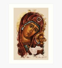 Heavenly Mother and baby Art Print