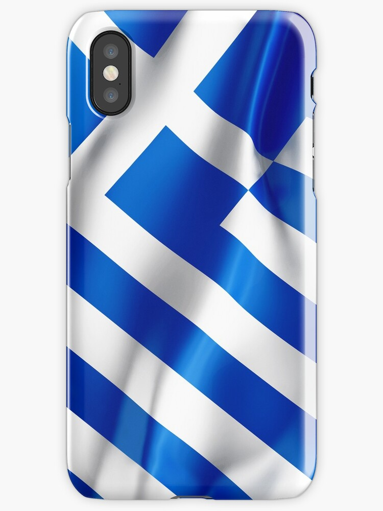 Greek flag  iphone case by mikath