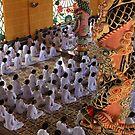 followers of Cao Dai religion, Tayh Ninh. by geof
