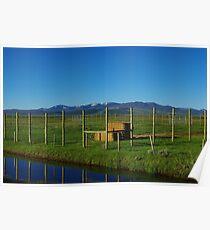 Blue Stream and ranchland near Walden, Colorado Poster