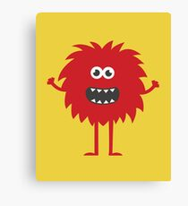 Funny Cute Monster Canvas Print