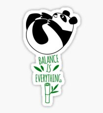 Balance Is Everything! Tumbling panda. Sticker